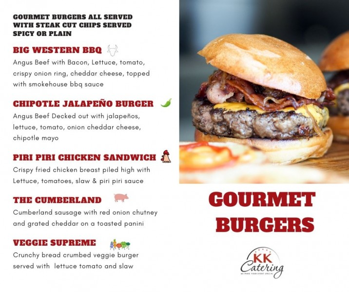 Gourmet Burger Menu