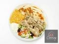 Chicken Souvlaki Kebab Plate