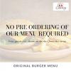 Original Burger Menu