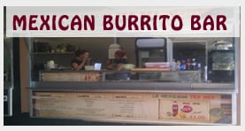 mexican street food and burrito van