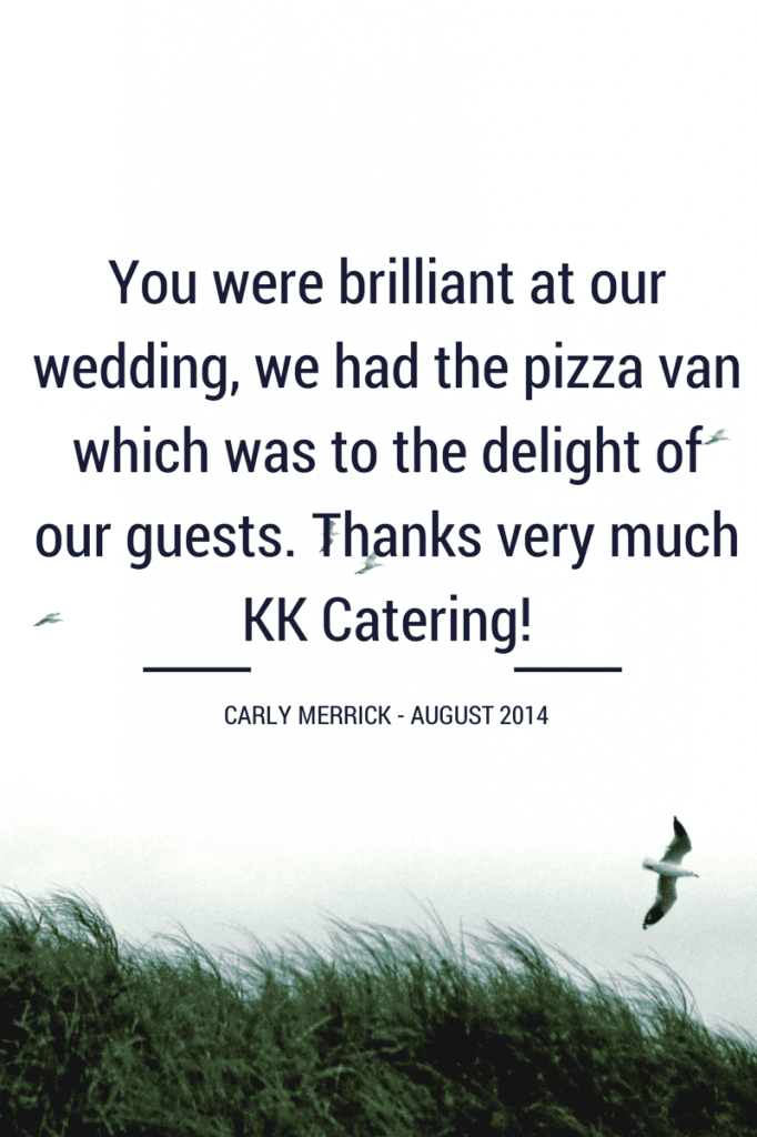 A customer testimonial for our pizza van hire catering service.