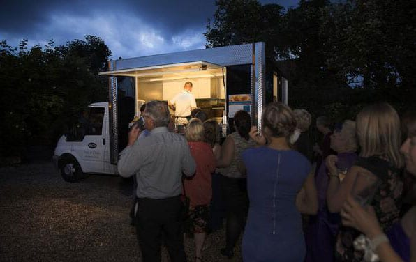 Alternative Wedding Buffet Ideas - The fish and Chip Van