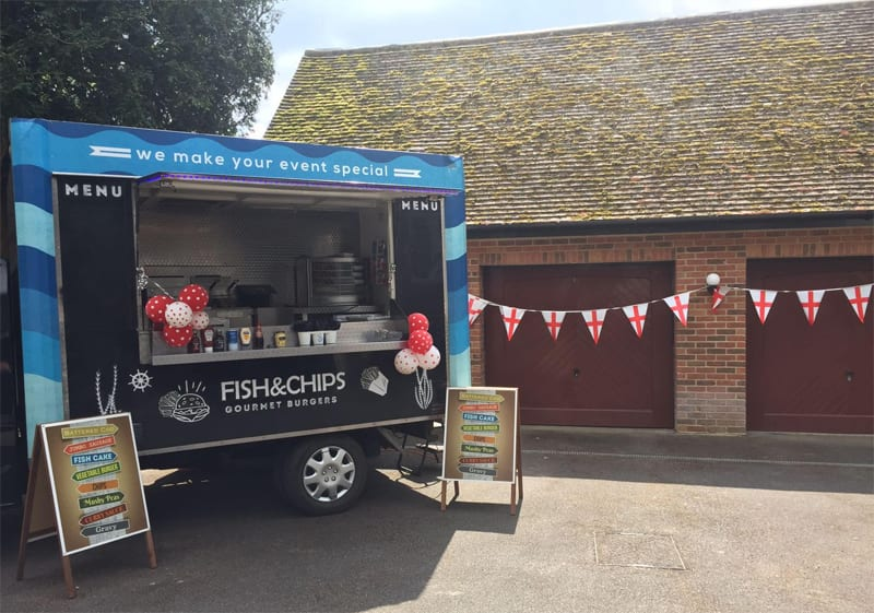 how long you need the van to be parked at your event will change the how much a fish and chip van costs