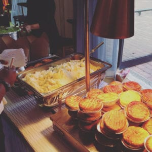 We can serve indoors too buffet style - our award winning pies will make your wedding day a day to remember