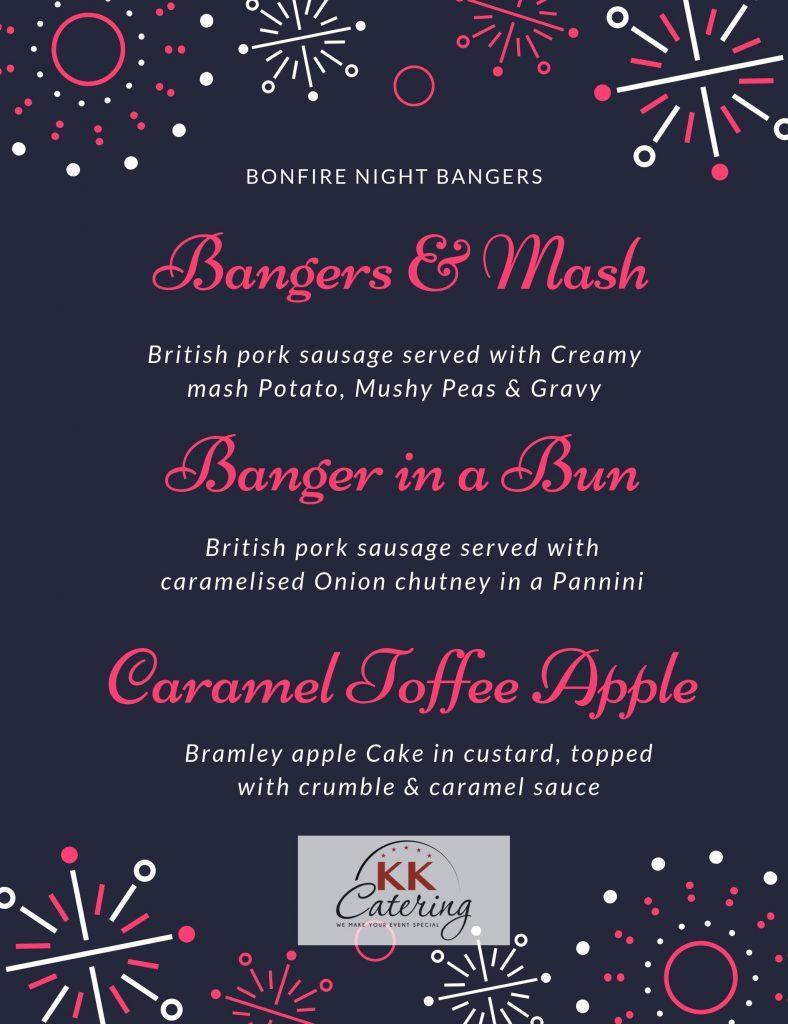 bonfire night menu