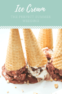 ice cream for a summer wedding