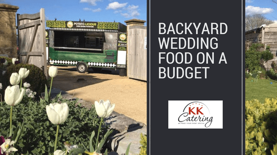 Backyard wedding food on a budget