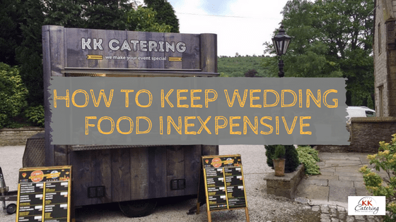 how to keep wedding food inexpensive