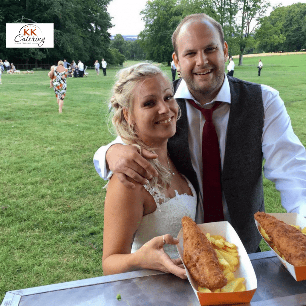 getting married on a bright summers saturday would effect the price of how much a fish and chip van will cost you