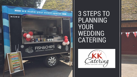 3 Steps to planning your wedding catering
