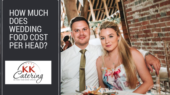 How much does wedding food cost per head