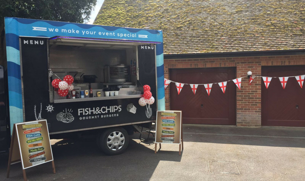 fish and chip van hire for a wedding