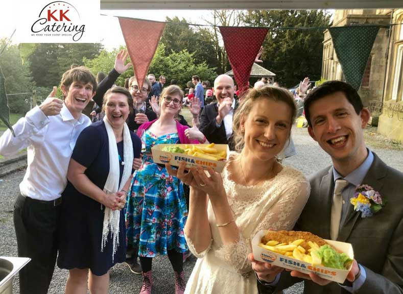 fish and chip van wedding food
