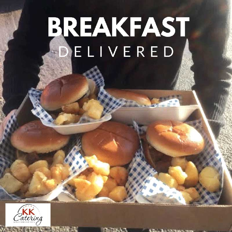 bacon baps breakfast sandwich delivered for an office reopening party