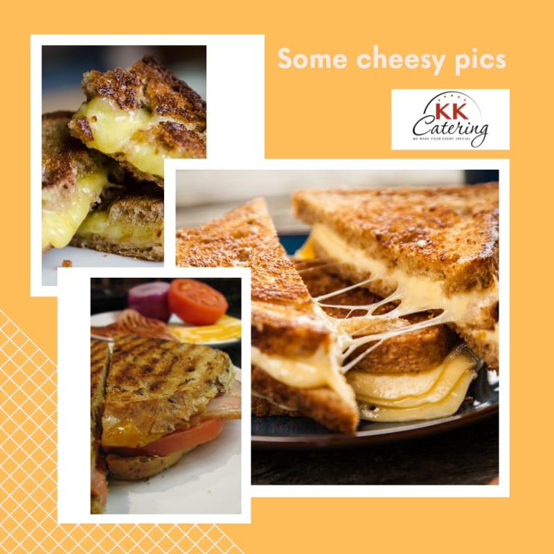 grilled cheese toasties from kk catering