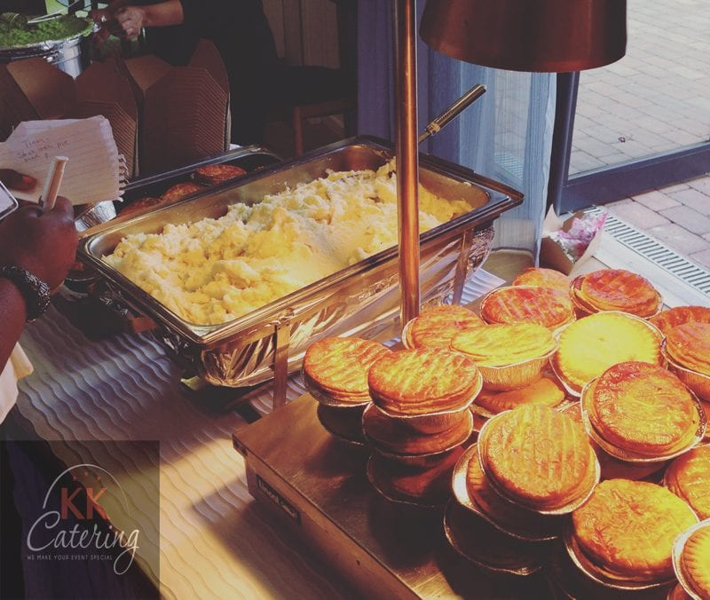 pie and mash buffet