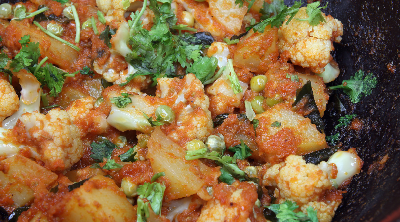 cauliflower curry jalfrezi