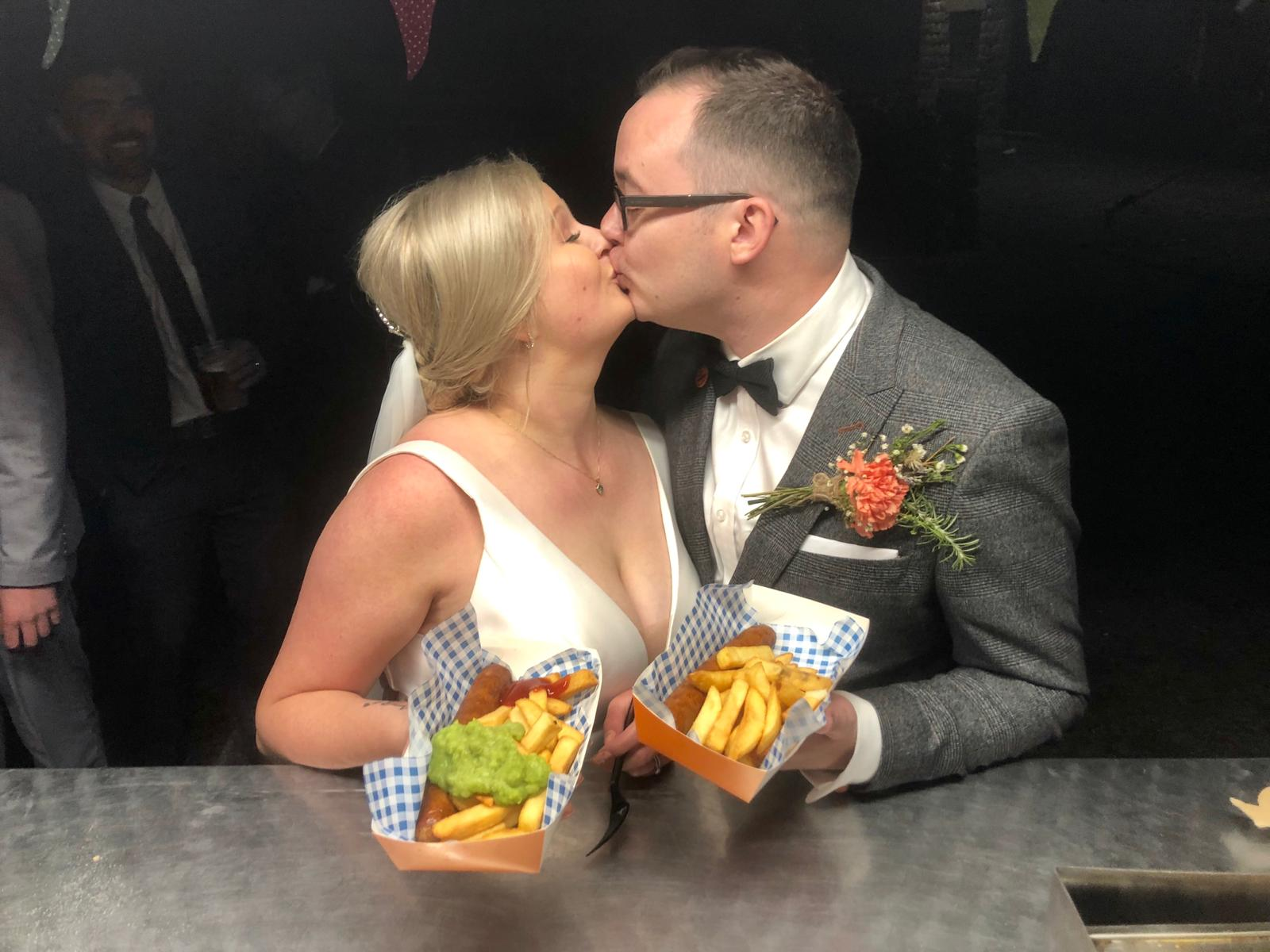 Wedding couple fish&chips foxholes Sheffield