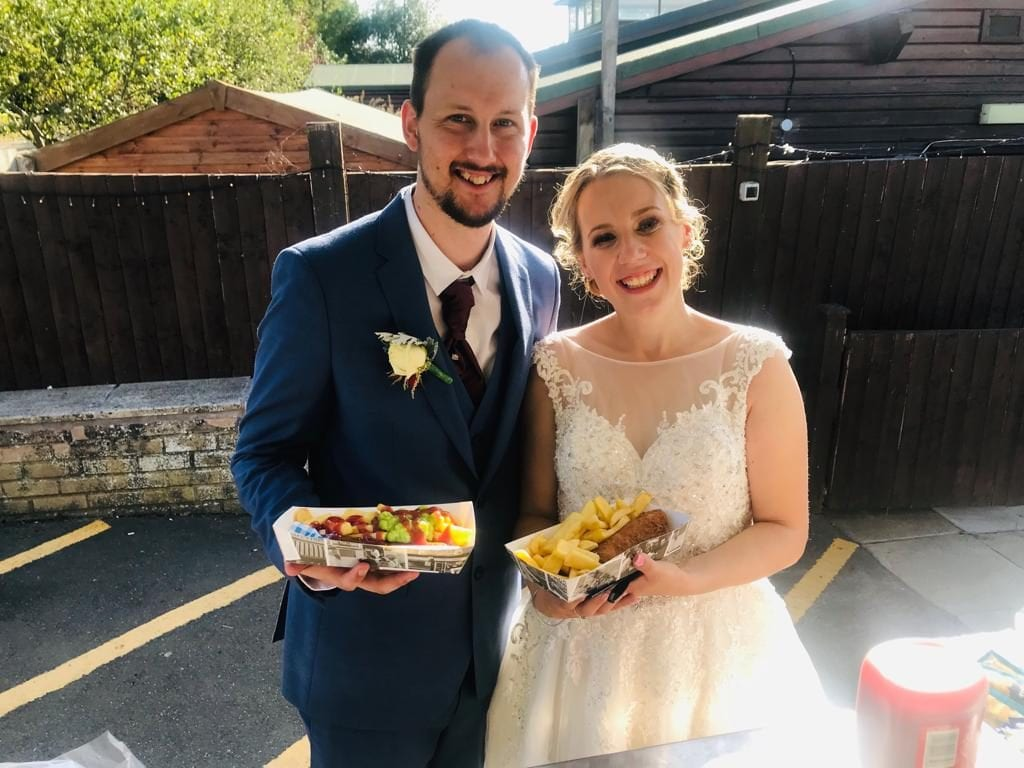 Wedding Couple Fish and chip Van