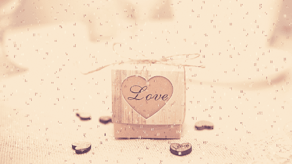 rustic wedding favour love box