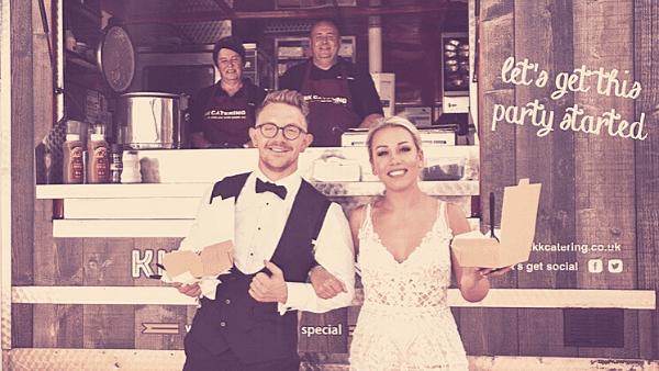 rustic wedding food pie mash