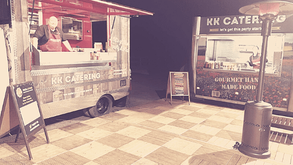 rustic wedding street food catering vans