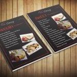 Sweet and savoury crepe menus