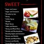 Sweet crepe menu from kk catering