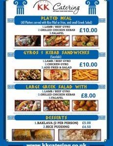 Greek Street Food Menu Cash Sales