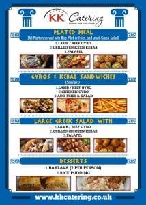 Greek Souvlaki street food menu