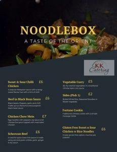 Noodle Box Asian Menu Cash Sales