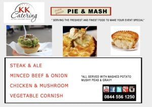 Classic Pie and Mash menu