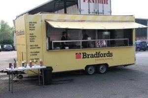Bradfords building supplies breakfast van