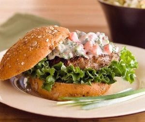 Canadian Salmon Burger