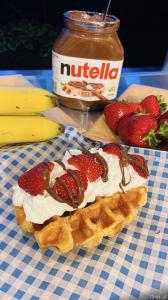 Nutella Strawberry Waffles