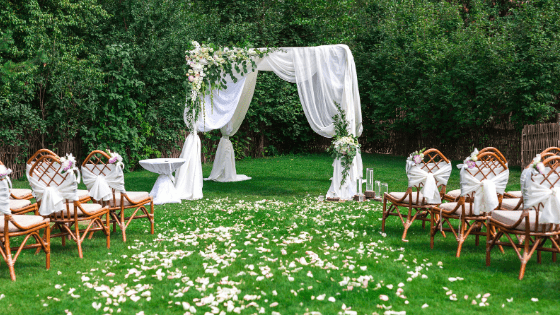 ourtdoor wedding seating for covid safe