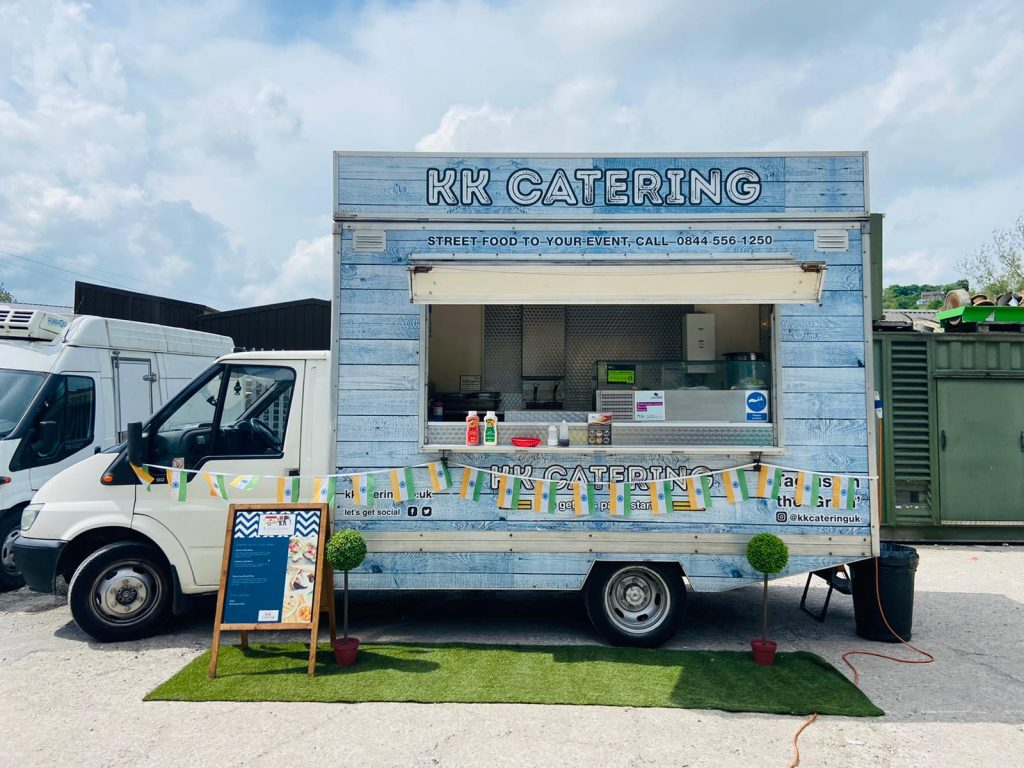 Indian Street food catering vanfrom kk catering